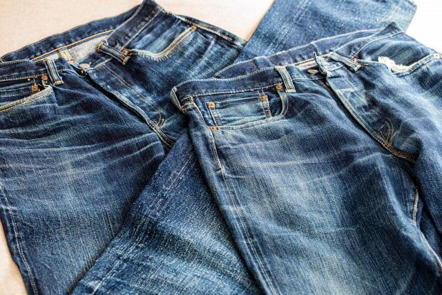 綿100%のジーンズの写真